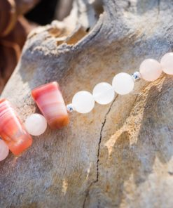 Peach Aventurine, Agate; Necklace